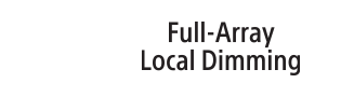 Logo Full Array Local Dimming (variation locale pleine gamme)