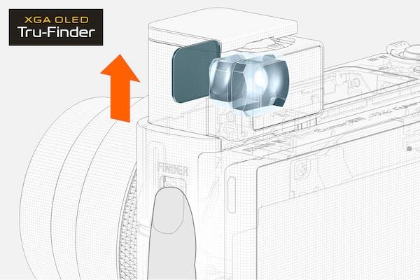 Accès rapide au viseur électronique via un bouton