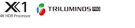 Logos 4K HDR Processor X1 et TRILUMINOS PRO