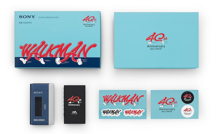 Inhalt des Walkman 40th Anniversary-Pakets